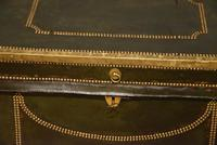 19th Century Camphor Leather Travelling Trunk (3 of 7)