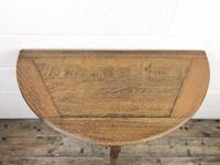 Antique Oak Demi-lune Fold Over Card Table (3 of 8)