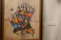 """Original Framed 1970s Print """"Ballon Players"""" by Graciela Rodo Boulanger (5 of 7)"""