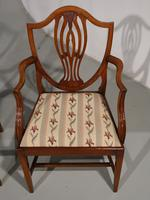 Most Elegant Set of 8 Early 20th Century  Walnut Framed Dining Chairs (3 of 5)