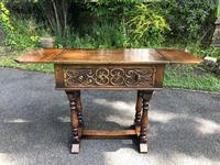 Antique Carved Oak Hall Side Table (7 of 11)