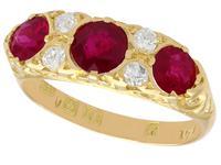 1.85ct Ruby & 0.20ct Diamond, 18ct Yellow Gold Dress Ring - 1923
