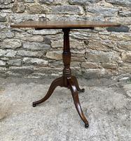 Georgian Oak Rectangular Tilt Top Occasional Table (2 of 16)