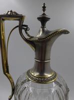 Antique Silver Parcel Gilt Claret Jug. 800 Standard c.1880 (7 of 9)