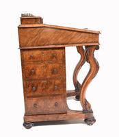 Victorian Davenport Desk Walnut Inlay c.1860 (12 of 14)