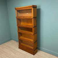 Tall Golden Oak Globe Wernicke Stacking Barristers Bookcase (4 of 7)