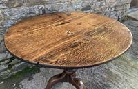 Large Georgian Oak Tilt Top Occasional Table (5 of 21)