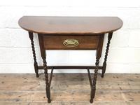 Antique Oak Demi-lune Console Table (2 of 14)