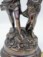 """Vintage Heavy Bronze Reproduction of the Statue """"la Fete Des Fleurs"""" Van Auguste (3 of 6)"""