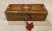 19th Century French Applewood Glove Box (4 of 17)