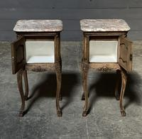 Pair of French Marble Top Bedside Cupboards (9 of 26)