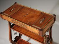 Attractive & Slender Mid 19th Century Mahogany Tricoteuse (5 of 8)