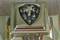 Fine Austrian German Jugendstil  Art Nouveau Double Brass Inkwell c.1905 (8 of 9)