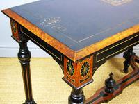 Outstanding Aesthetic Ebonised Burr Walnut Table c.1870 (8 of 10)