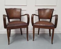 French Vintage Leather Desk Chairs c.1930 (3 of 5)