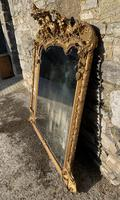 Large Victorian Gilt Overmantel Mirror (6 of 20)