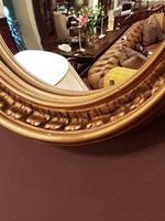 Antique Edwardian Convex Gilt Wall Mirror (4 of 7)