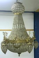 20th Century French Stags Head Ornate Chandelier (4 of 13)