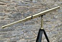 Antique Broadhurst Clarkson & Co Brass Telescope on Tripod (2 of 14)