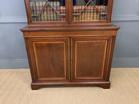 Good Edwardian Inlaid Mahogany Bookcase (5 of 16)
