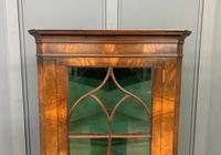Good Burr Walnut Corner Cabinet (4 of 7)