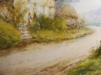 Watercolour Mill Cottage Reigate Listed Artist H Rawson (6 of 13)