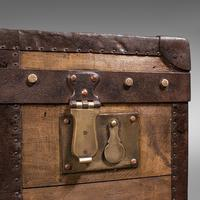 Large Antique Steamer Trunk, English, Pine, Travel, Shipping Chest, Victorian (10 of 12)