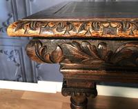 Victorian Carved Oak Library Table (4 of 25)