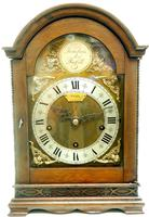 Superb Mahogany Arch Top Mantel Clock Westminster Musical Bracket Clock by Dent London (3 of 10)