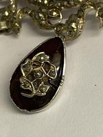 Antique Georgian Silver Garnet & Marcasite Brooch (5 of 8)