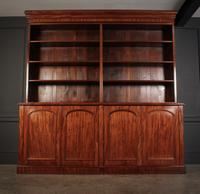 Large Mahogany Open Library Bookcase (7 of 11)