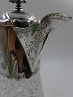 Antique Victorian Silver Claret Jug - Birmingham 1881 (4 of 10)