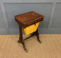 Regency Period Rosewood Work Table (7 of 15)