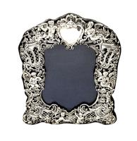 Antique Victorian Sterling Silver 'Cherubs' Photo Frame 1894 (5 of 10)