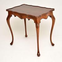 Antique Walnut Pie  Crust Side Table (3 of 9)