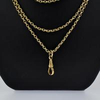 Antique Victorian Long Rolled Gold Guard Muff Chain Necklace (3 of 9)