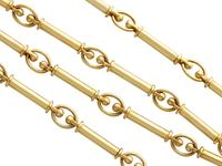 12ct Yellow Gold Chain - Antique c.1920 (3 of 13)