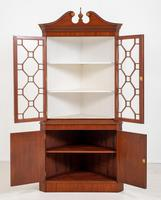 Mahogany Sheraton Revival Double Corner Cupboard (6 of 8)