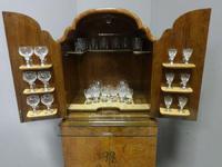 Super Quality Burr Walnut Cocktail Cabinet (9 of 12)