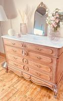 French Vintage Chest of Drawers / Antique Style Washstand / Marble Chest (9 of 9)