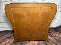 Art Deco Walnut Curved Bookcase Display Storage Cabinet (23 of 29)