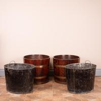Pair Of Large Oval Oak Brass Bound Log Buckets (9 of 21)