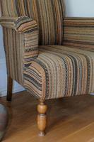 Antique Oak Legged  Afghan Kelim Covered Chair (4 of 10)
