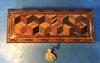 Victorian Burr Holly Glove Box with Tunbridge Ware Inlay (8 of 9)