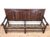 18th Century Panelled Oak Settle (3 of 10)