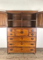 Antique 19th Century Oak Campaign Chest with Cupboard (3 of 17)