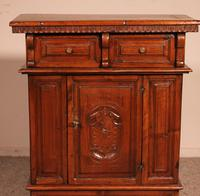 Small Italian Renaissance Credenza in Walnut c.1600 with Coat of Arms (2 of 11)