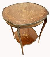Wonderful Victorian Marquetry Occasional Table (6 of 8)