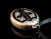 Antique Gold Mourning Locket, Victorian (13 of 15)