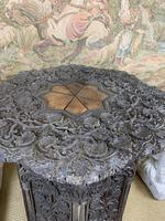 19th Century Indian Carved Occasional Table (4 of 7)